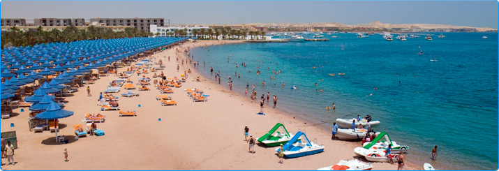 Beach scene in Hurghada