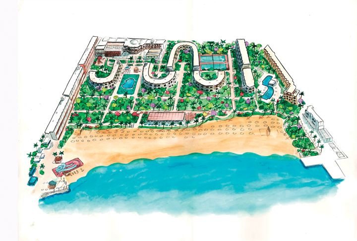 The Grand Hotel, Hurghada - map view