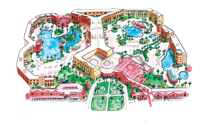 The Grand Resort - map view