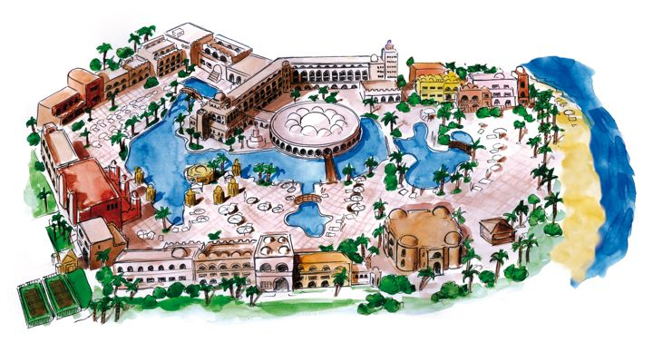 The Makadi Palace Hotel - map view