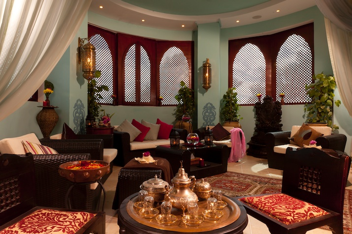 Moroccan spa reception