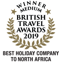 Winner: British Travel Awards, Best Holiday Company to North Africa