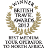 British Travel Awards 2012: Best Medium Tour Operator to North Africa (Gold) - Auszeichnungen ETI