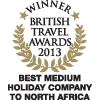 British Travel Awards 2013 - Best Medium Holiday Company to North Africa - Gold Award