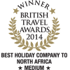 British Travel Awards 2014 - Best Medium Holiday Company to North Africa - Gold Award