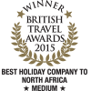 British Travel Awards 2015 - Best Holiday Company to North Africa - Medium - Gold Award