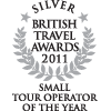 British Travel Awards 2011 - Best Small Tour Operator (Silver) - Auszeichnungen ETI