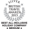 British Travel Awards 2015 - Best All Inclusive Holiday Company - Medium - Silver Award
