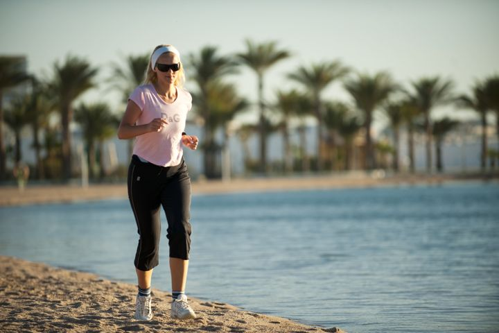 The Grand Hotel, Hurghada - jogging on the beach
